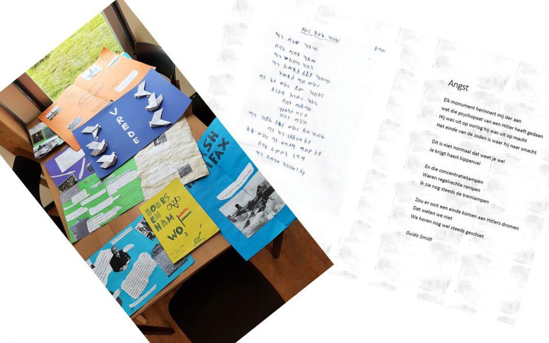 4 mei herdenkingswerkstukken en -gedichten door basisscholen